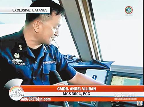 台湾地区与菲律宾的海巡船舰发生对峙互呛。(摘自ABS-CBN)