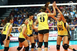 The UST Tigresses opened the second round on a high note. File photo by Josh Albelda/Rappler