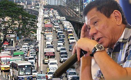 菲律宾总统杜特地向马尼拉堵车梦魇宣战。